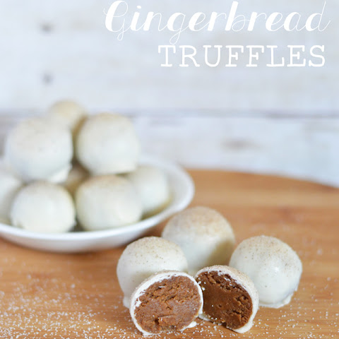 White Chocolate Gingerbread Truffles