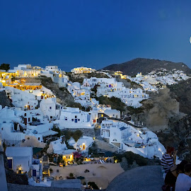 Moon sonata of Oia by Jiri Cetkovsky - City,  Street & Park  Vistas
