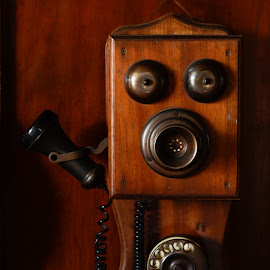 Telephone by Jeremy Mendoza - Artistic Objects Antiques ( old, vintage, artistic, antique, telephone, classic )