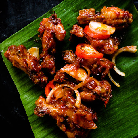 Pan Fried Spicy Chicken Wingslets(devilled Wings)