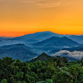 Sunrise by Charliemagne Unggay - Landscapes Mountains & Hills
