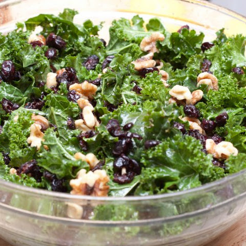 Cranberry Walnut Kale Salad