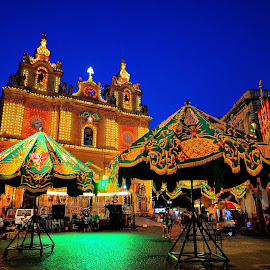 En fête by Francis Xavier Camilleri - City,  Street & Park  Night
