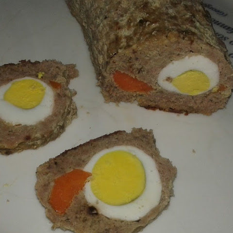 Meatloaf With Egg And Carrot In The Middle