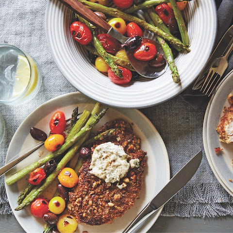 Pecan-Crusted Chicken And Peppered Goat Cheese