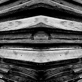 kayu by Andi Pambudi - Buildings & Architecture Other Exteriors ( building, black and white, exterior, natural, wall )