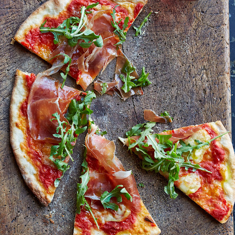 Pizza with Prosciutto and Sheep-Milk Cheese