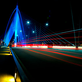 Jambatan Seri Warisan by Zulkifli Yusof - Buildings & Architecture Bridges & Suspended Structures ( light trail, putrajaya, malaysia, pwcflashes, jambatn seri warisan )