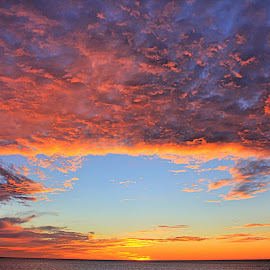 Happy Trials by Rick Blakeley - Landscapes Cloud Formations ( cloud formations, skyline, sunset, clouds and sea, cloudscape )