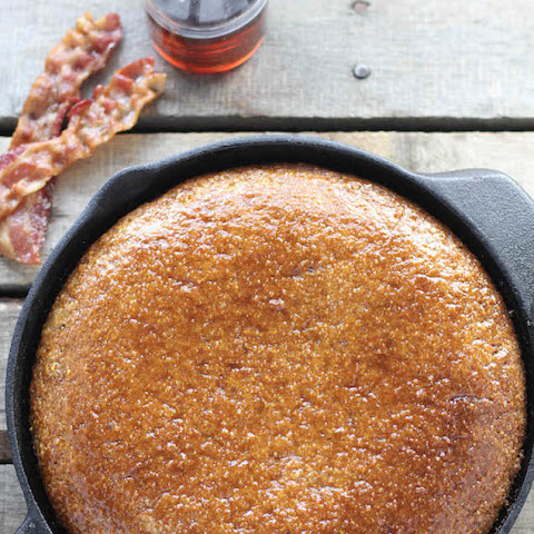 Skillet Cornbread with Maple and Bacon