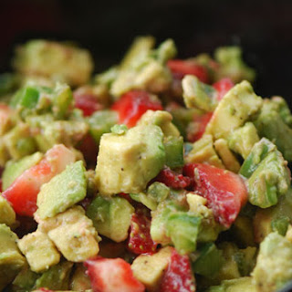 Strawberry-Avocado Salsa with Cinnamon Tortilla Chips