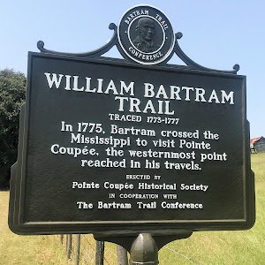 In 1775, Bartram crossed the Mississippi to visit Pointe Coupée, the westernmost point reached in his travels.