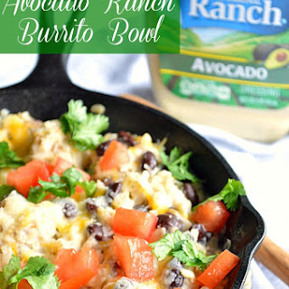 Avocado Ranch Burrito Bowls