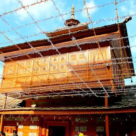 The Marvellous Woodworks............. by Soutik Halder - Buildings & Architecture Places of Worship ( temple, himachal pradesh, sarahan, bhimakali, india )