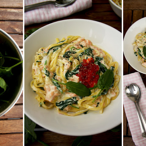 One-Pot Creamy Smoked Salmon Pasta with Spinach