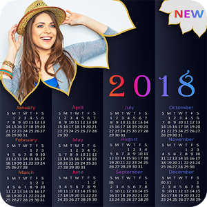 Download Calendar Photo Frame 2018 : New Year Photo Frame For PC Windows and Mac