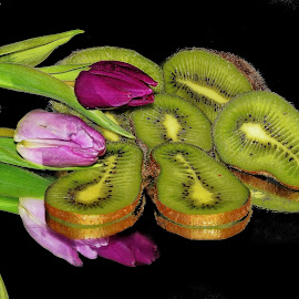 kiwi with tulips by LADOCKi Elvira - Food & Drink Fruits & Vegetables