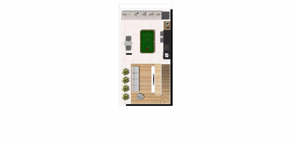 Planta Triplex Cobertura 123 m²