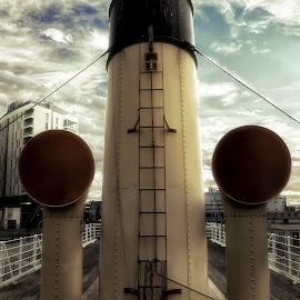 Nomadic by Steven Calcutt - Transportation Boats ( nomadic, ship, titanic quarter, belfast )