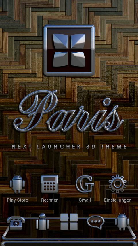 PARIS Next Launcher 3D Theme Screenshot 0