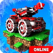 Download Full Blocky Cars Online fun shooter  APK
