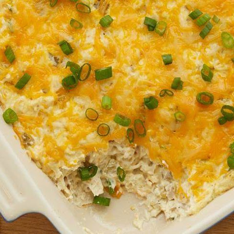 Cheesy Green Chile Chicken Dip