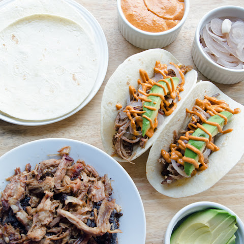 Pulled Pork Tacos with Chipotle Crema
