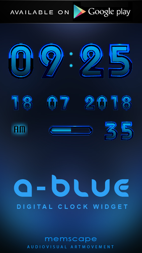 A-BLUE Next Launcher 3D Theme Screenshot 5