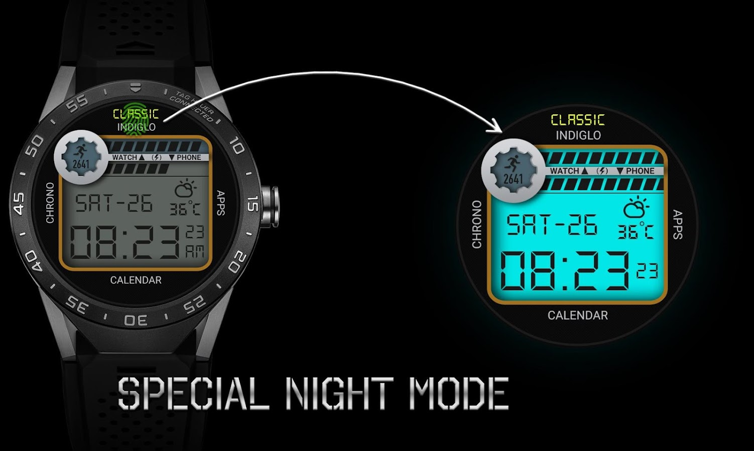 Retro Interactive Watch Face Screenshot 3