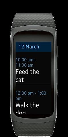Calendar Gear Fit2 Screenshot