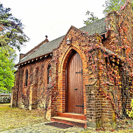 Gostwyck Chapel by Cathi Duck - Buildings & Architecture Public & Historical ( autumn leaves, church, autumn, stunning, historic )