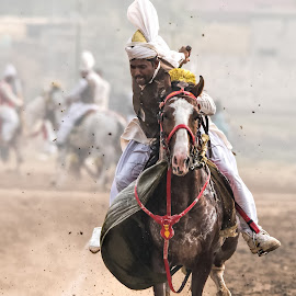 The Moment by Abdul Sattar Khokhar - Animals Horses ( pakistan, tent pegging, horses, askhokhar, kot fateh khan )