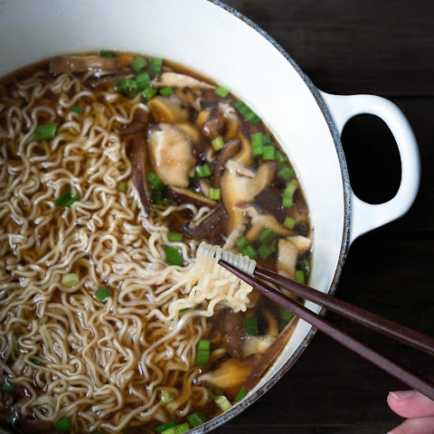 Easy Homemade Ramen with Mushrooms
