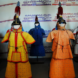 Military costumes by Sámuel Zalányi - Artistic Objects Clothing & Accessories ( silk, costumes, museum, beijing, forbidden, china, city, military )