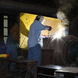 Welding by Ron Olivier - Abstract Fire & Fireworks ( welding )