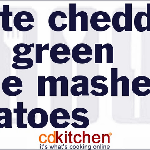 White Cheddar and Green Chili Mashed Potatoes