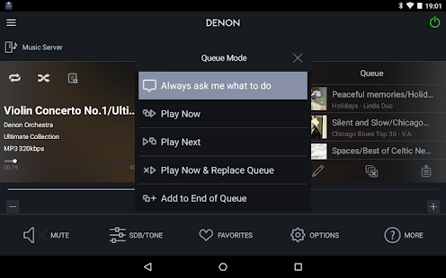 how to run app from phine on denon