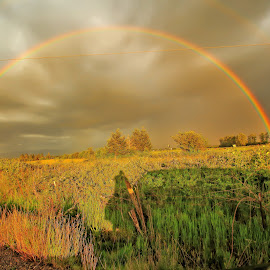 Double Rainbow by Jon Morgan - Landscapes Weather