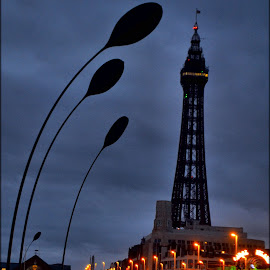 blackpool tower by Nic Scott - City,  Street & Park  Street Scenes ( tower, blackpool )