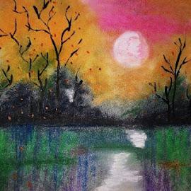 Dawn by Ananya Mazumdar - Drawing All Drawing