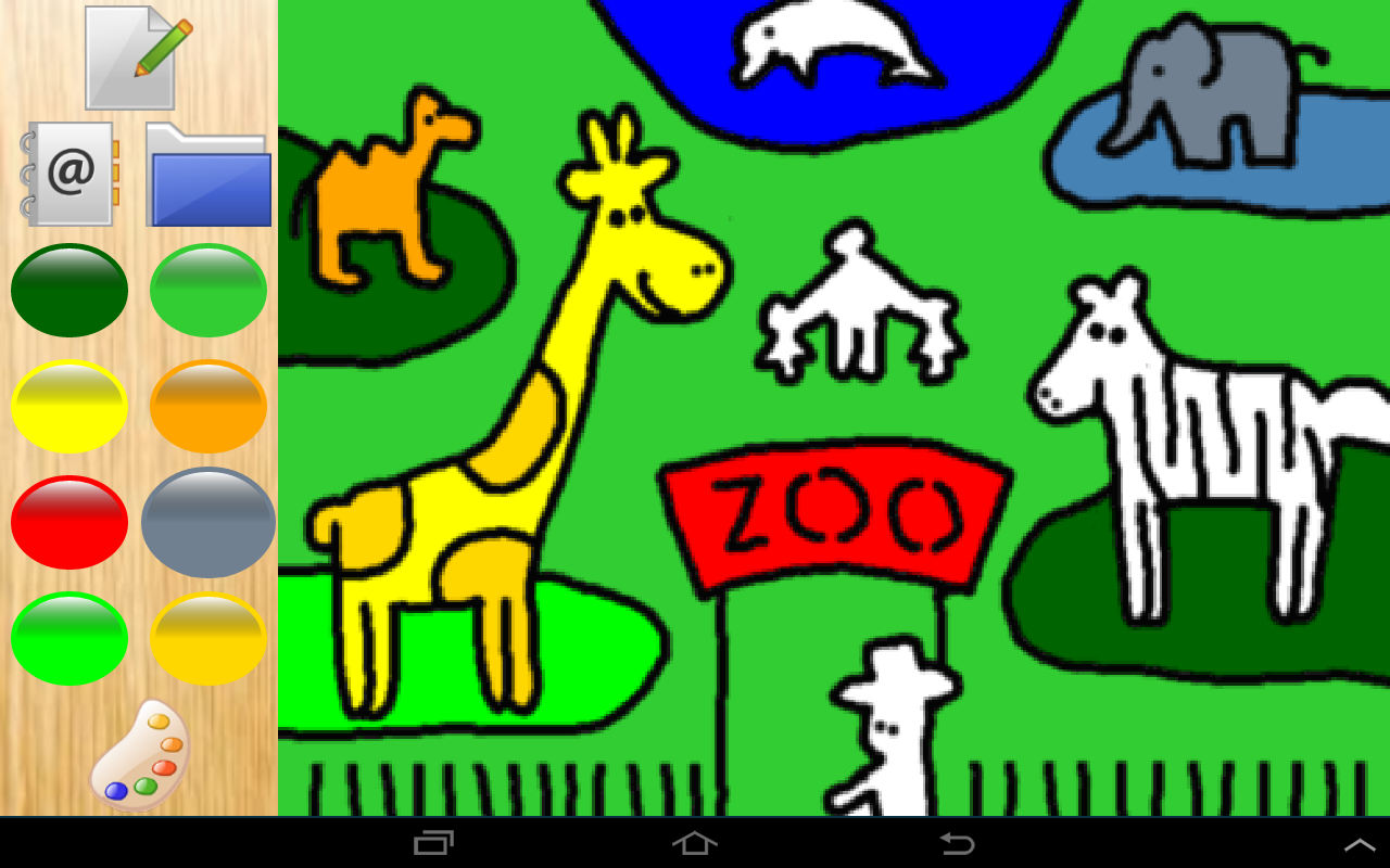 colors cute zoo animals 4 kids android apps on google play - Color Drawing For Kids