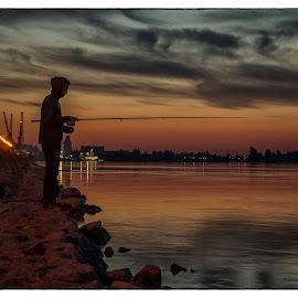 Danubes dusk by Vanja Vidaković - Landscapes Sunsets & Sunrises