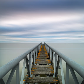 Infinity ! by Emanuel Fernandes - Buildings & Architecture Bridges & Suspended Structures ( water, clouds, portugal, long, bridge )