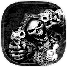 Hell Skull and Gun Theme