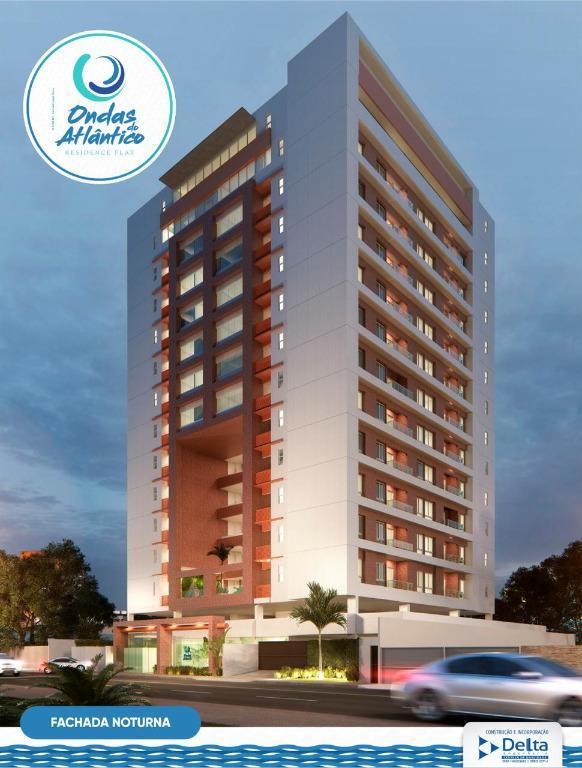 Apartamento com 1 dormitório à venda, 39 m² por R$ 285.000 - Cabo Branco - João Pessoa/PB