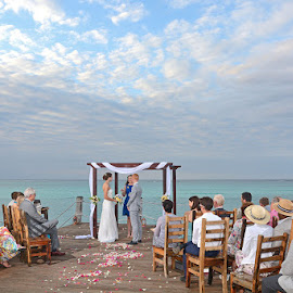 Seaside Ceremony by Andrew Morgan - Wedding Ceremony ( love, zanzibar, wedding, destinationwedding, travel, seaside, bride, groom )