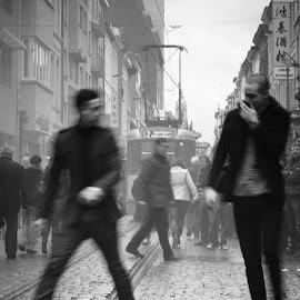 Chinatown by Erik Lykins - Black & White Street & Candid ( black and white, street, chinatown, antwerp, belgium, transportation )