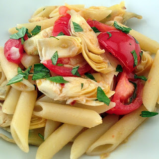 Penne With Fresh Tomatoes & Artichoke Hearts