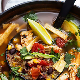 Quinoa Chicken Tortilla Soup