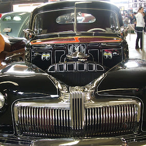 Front of a Classic Car by Jacob Woolwine - Transportation Automobiles ( colors, cars, jacob )